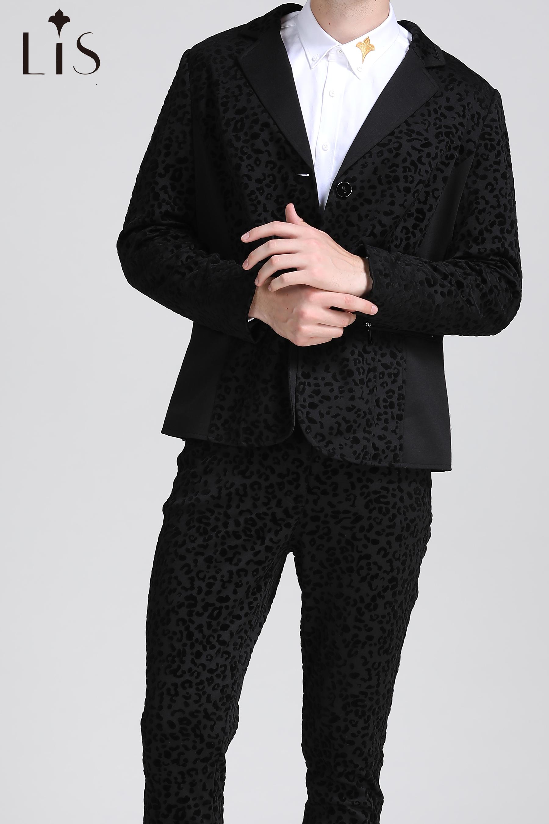 leopard suits pants
